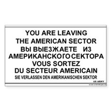 Leaving The American Sector Rectangle Sticker 10