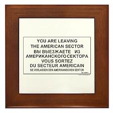 Leaving The American Sector Framed Tile