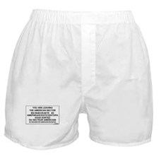 Leaving The American Sector Boxer Shorts