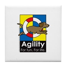 Agility For Fun For Life Tile Coaster