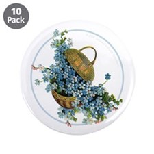 "Forget-Me-Nots 3.5"" Button (10 pack)"
