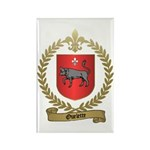 OUELETTE Family Crest Rectangle Magnet (10 pack)