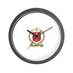 OUELETTE Family Crest Wall Clock