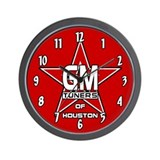GMOH Red Star Wall Clock