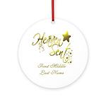 PERSONALIZED Heaven Sent Ornament (Round)