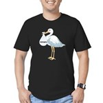 February Stork Men's Fitted T-Shirt (dark)