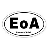 Enemy of Allah Oval Sticker (50 pk)