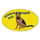 German Shepherd Dad Decal