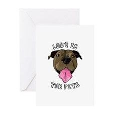 Love is The Pits Greeting Card