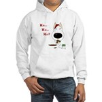 Bull Terrier Santa Hooded Sweatshirt