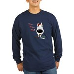 Bull Terrier Santa Long Sleeve Dark T-Shirt