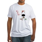 Bull Terrier Santa Fitted T-Shirt