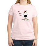 Bull Terrier Santa Women's Light T-Shirt