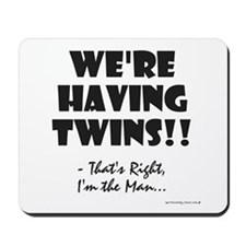 Cute Pregnant twin Mousepad