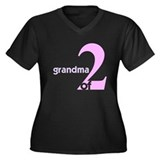 Mommy and Grandma Shirts Women's Plus Size V-Neck