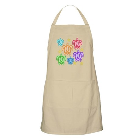 Distressed Rainbow Turtles Apron