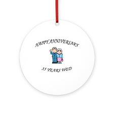 Cute 35th wedding anniversary Ornament (Round)