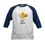 Art Chick Kids Baseball Jersey