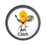 Art Chick Wall Clock