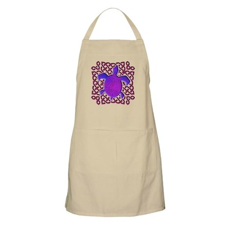 Celtic Knot Turtle (Purple) Apron