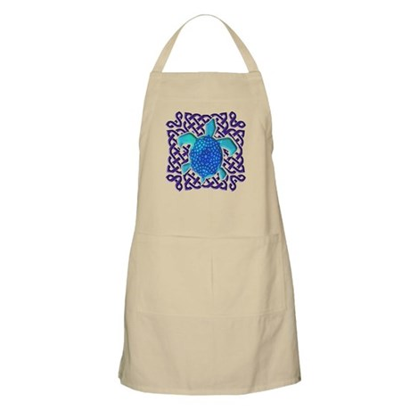 Celtic Knot Turtle (Blue) Apron