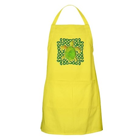 Celtic Knot Turtle (Green) Apron
