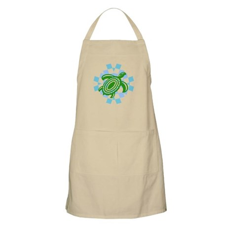 Green Cutout Turtle Apron