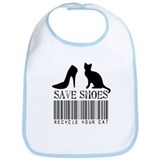 Save Shoes Recycle Your Cat Bib