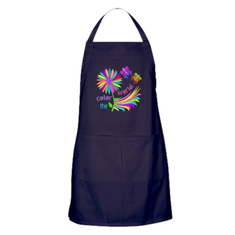 Color the World Apron (dark)