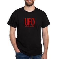 UFO (Red/Rust) - Black T-Shirt