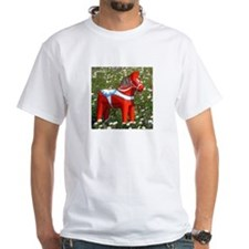 Horse in Flowers Shirt