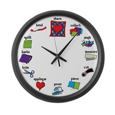 Quilter's Large Wall Clock