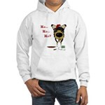 Smooth Collie Santa Hooded Sweatshirt