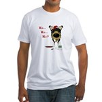 Smooth Collie Santa Fitted T-Shirt