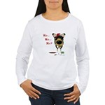 Smooth Collie Santa Women's Long Sleeve T-Shirt