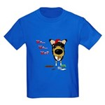 Smooth Collie Santa Kids Dark T-Shirt