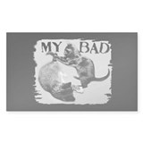 """My Bad"" Cats Rectangle Sticker 10 pk)"