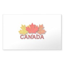 Canadian Maple Leaves Rectangle Decal