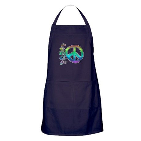 Rainbow Peace Apron (dark)