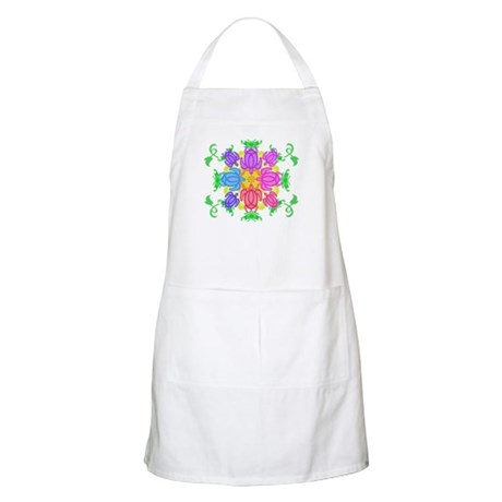 Flower Turtles Apron