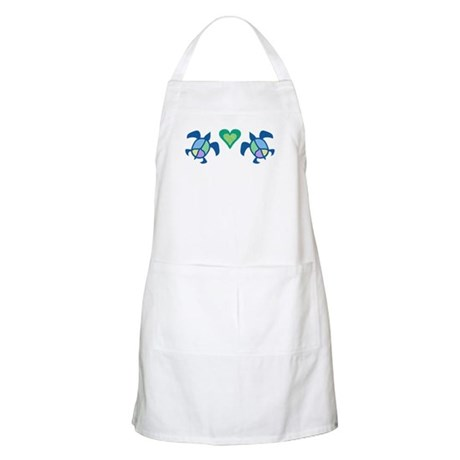 Peace Heart Sea Turtles Apron