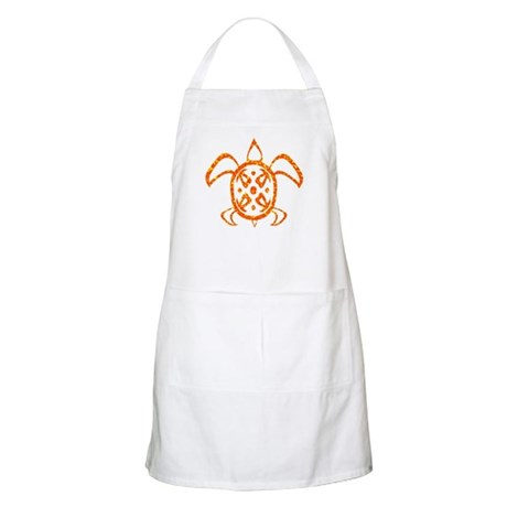 Orange Sea Turtle Apron