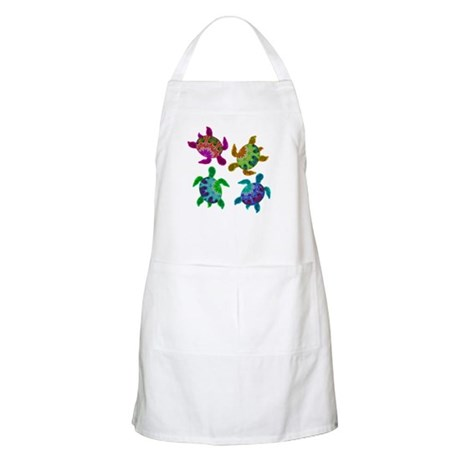 Multi Painted Turtles Apron
