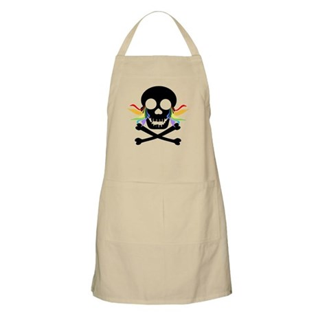 Black Skull Rainbow Tears Apron