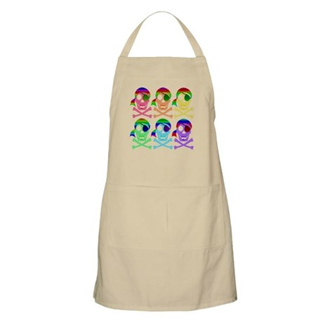 Rainbow Pirate Skulls Apron