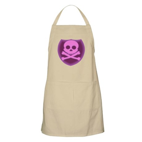 Pink Skull Badge Apron