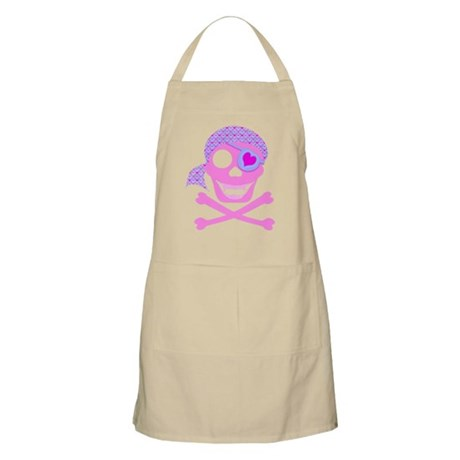 Pink Pirate Skull Apron