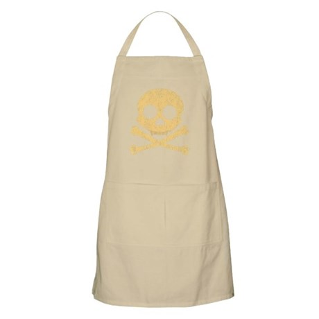 Distressed Orange Skull Apron