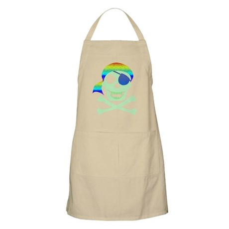 Green Pirate Skull Apron