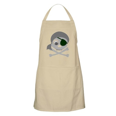 Gray Pirate Skull Apron